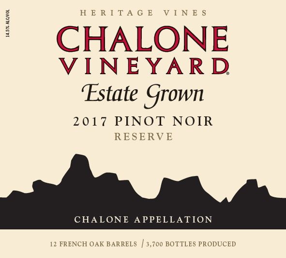 Chalone Estate Pinot Noir 2017  Front Label