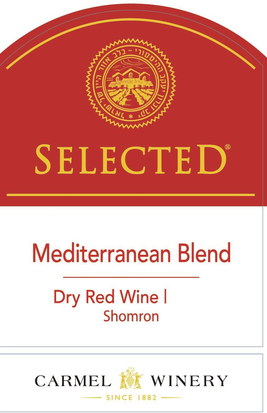 Carmel Selected Mediterranean Red Blend (OU Kosher) 2019  Front Label