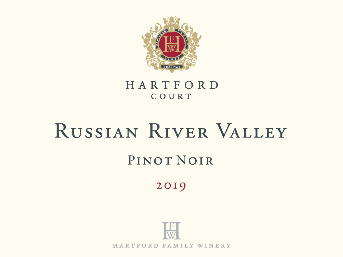 Hartford Court Russian River Pinot Noir 2019  Front Label