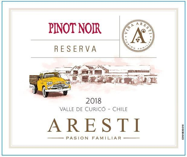 Aresti Reserva Pinot Noir 2018  Front Label