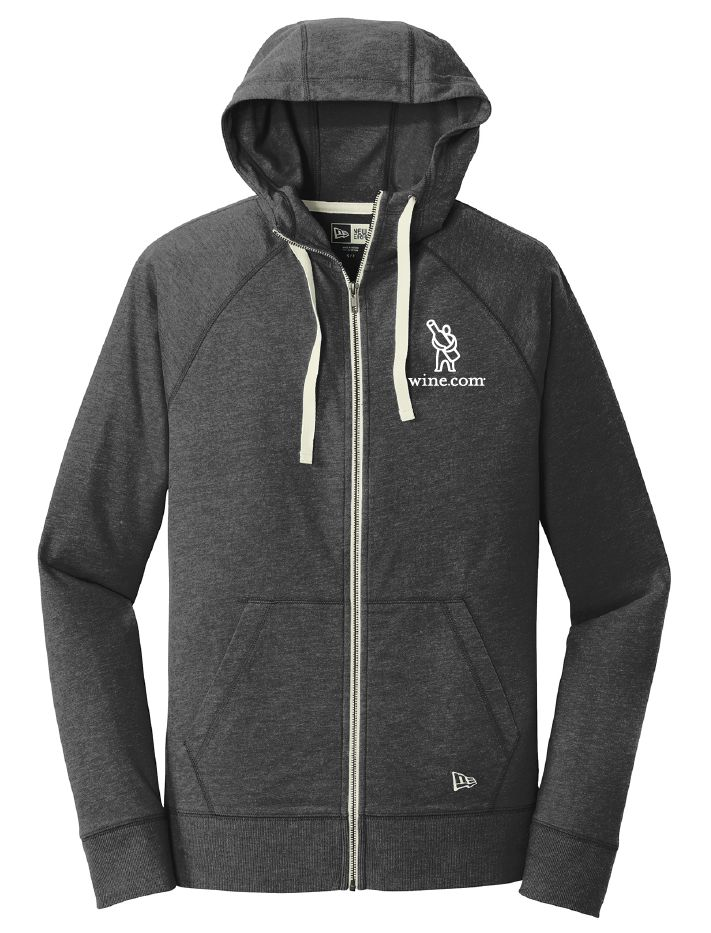 wine.com Men's Full Zip Hoodie in Black Heather – X-Large  Gift Product Image