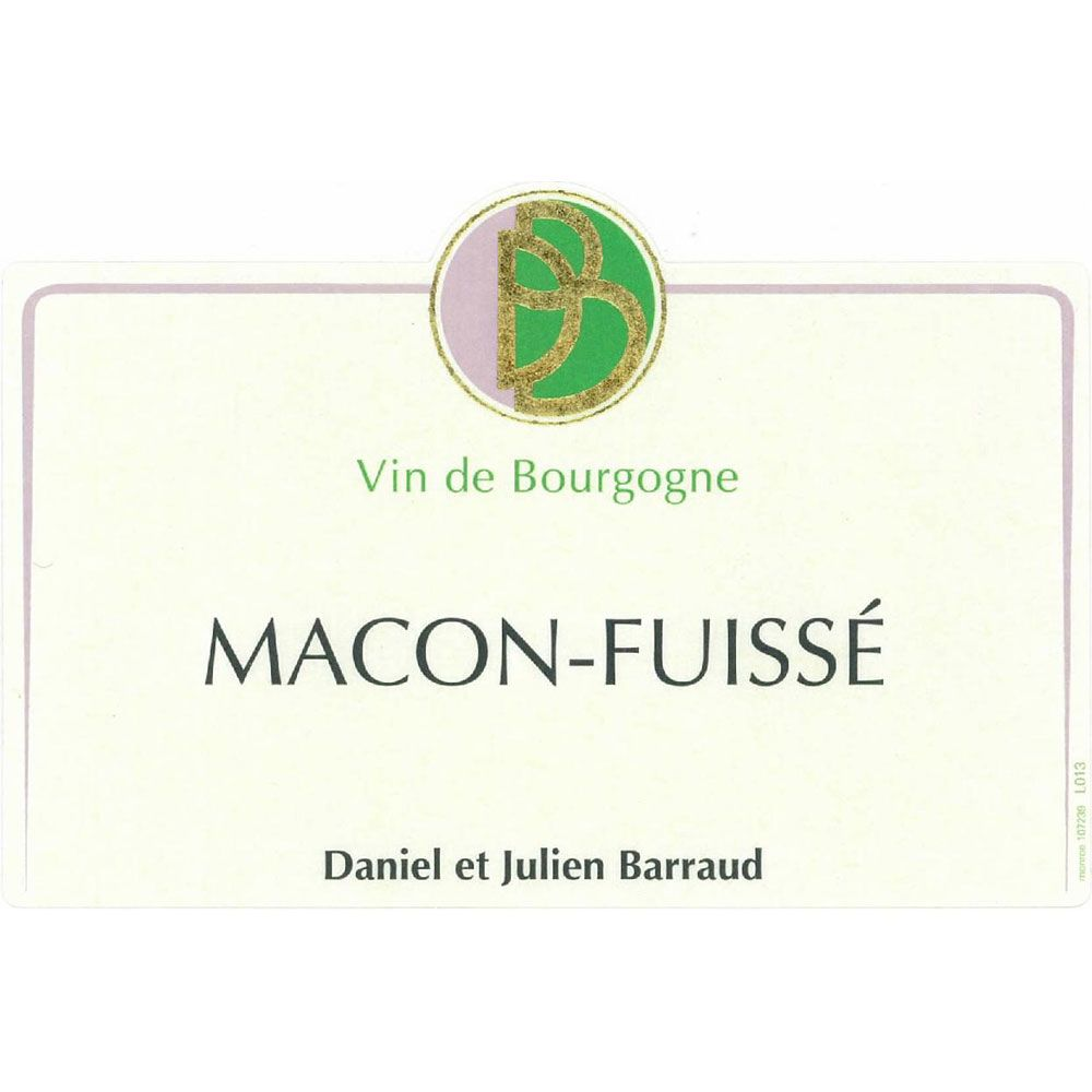 Daniel & Julien Barraud Macon-Fuisse 2017  Front Label