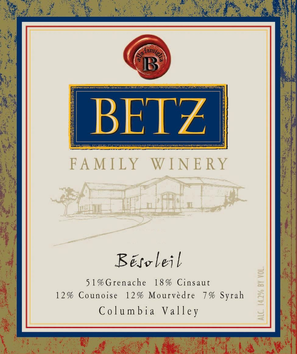 Betz Family Winery Besoleil 2016 Front Label