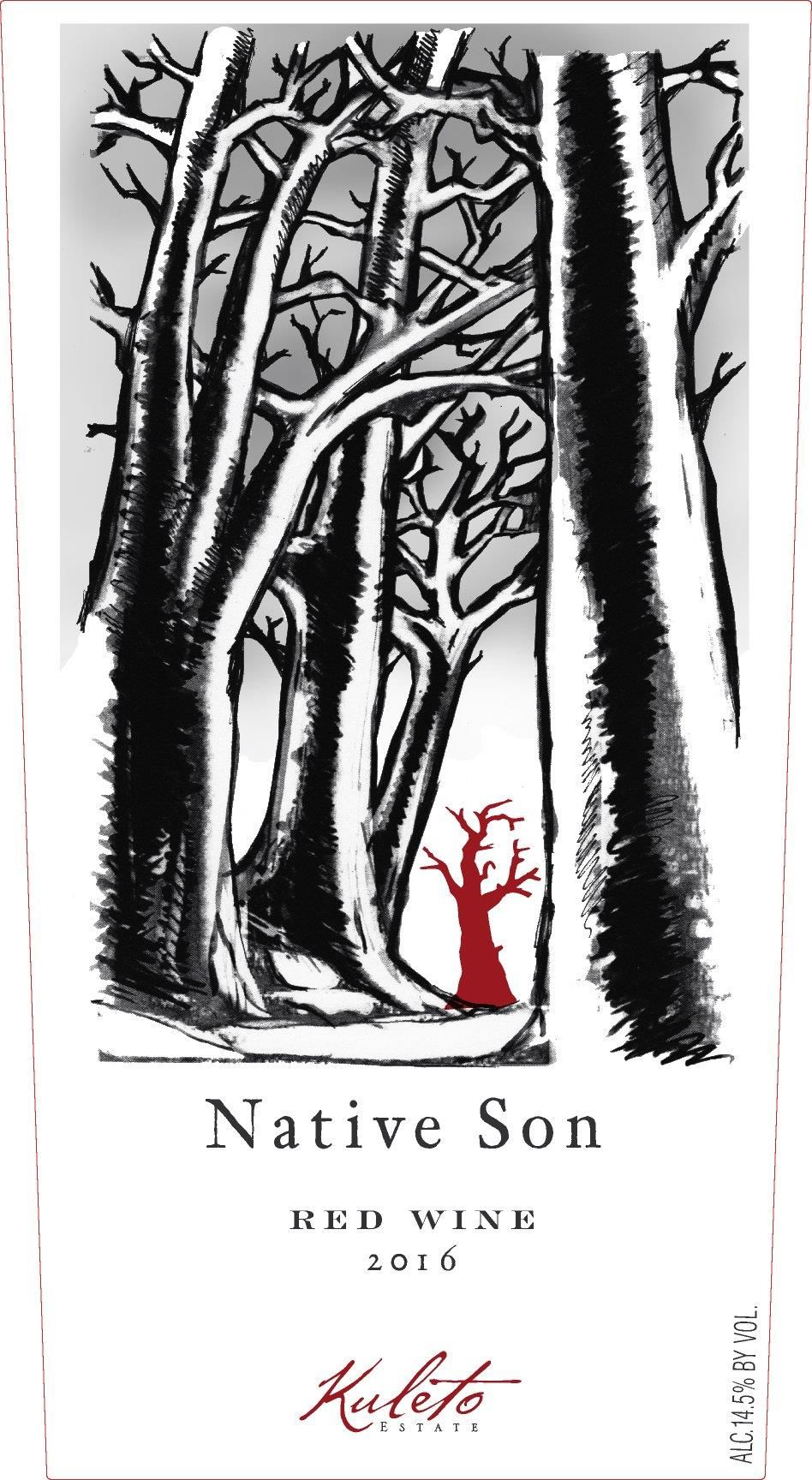 Kuleto Estate Native Son Red 2016 Front Label