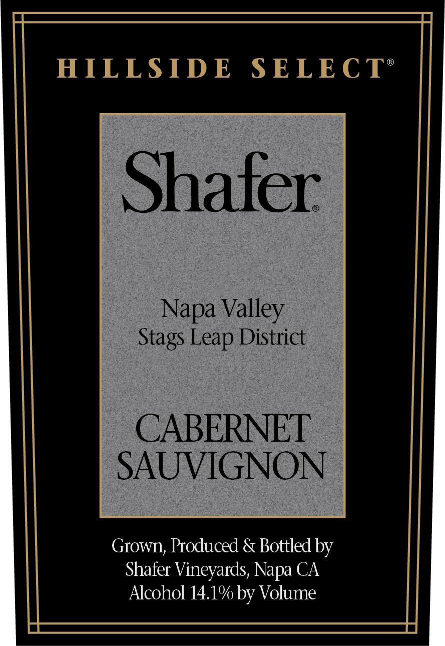 Shafer Hillside Select Cabernet Sauvignon 1994  Front Label