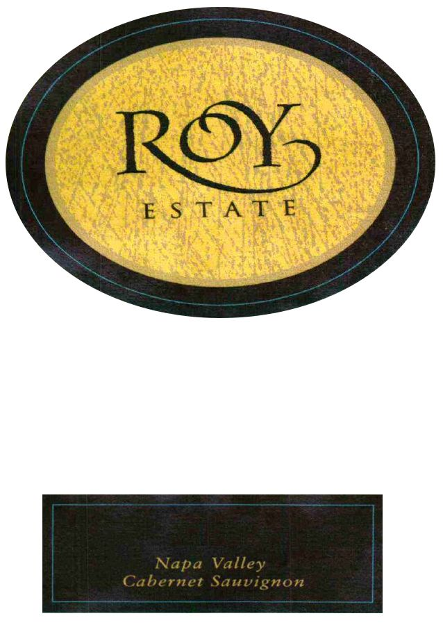 Roy Estate Estate Proprietary Red 2007  Front Label
