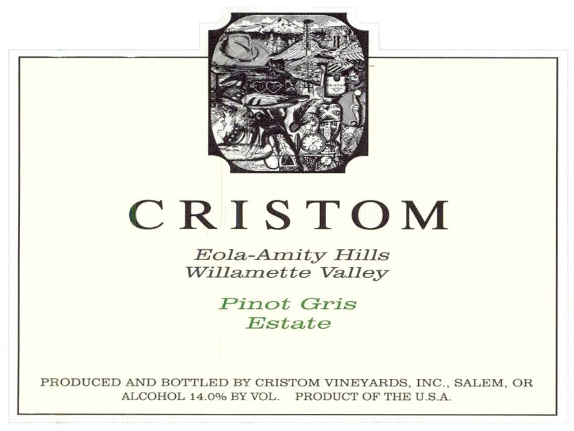 Cristom Pinot Gris 2019  Front Label