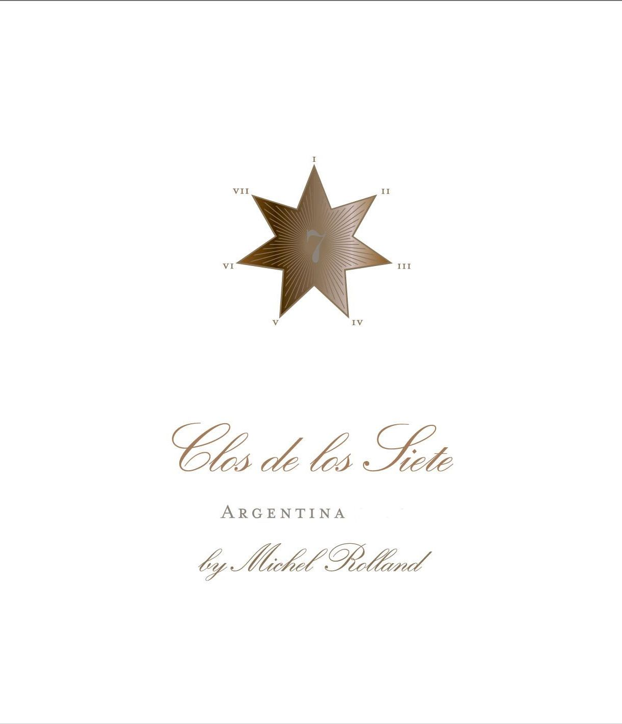 Clos de los Siete Red Blend 2016  Front Label
