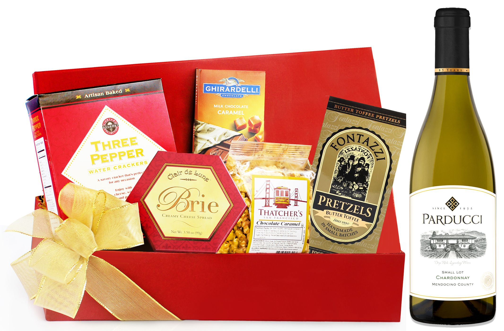 wine.com Parducci Chardonnay & Tempting Treats Gift Basket  Gift Product Image