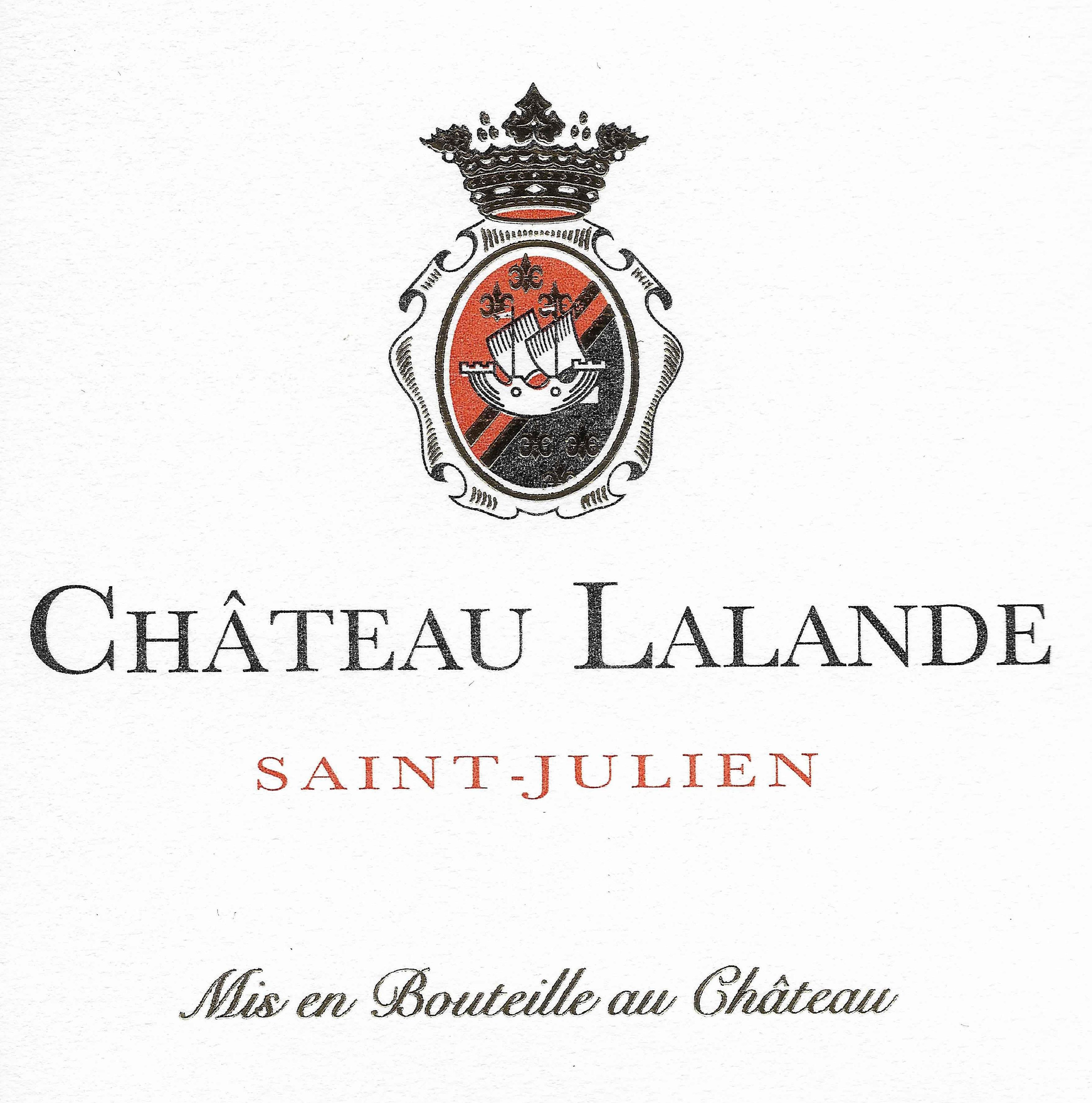 Chateau Lalande  2016 Front Label