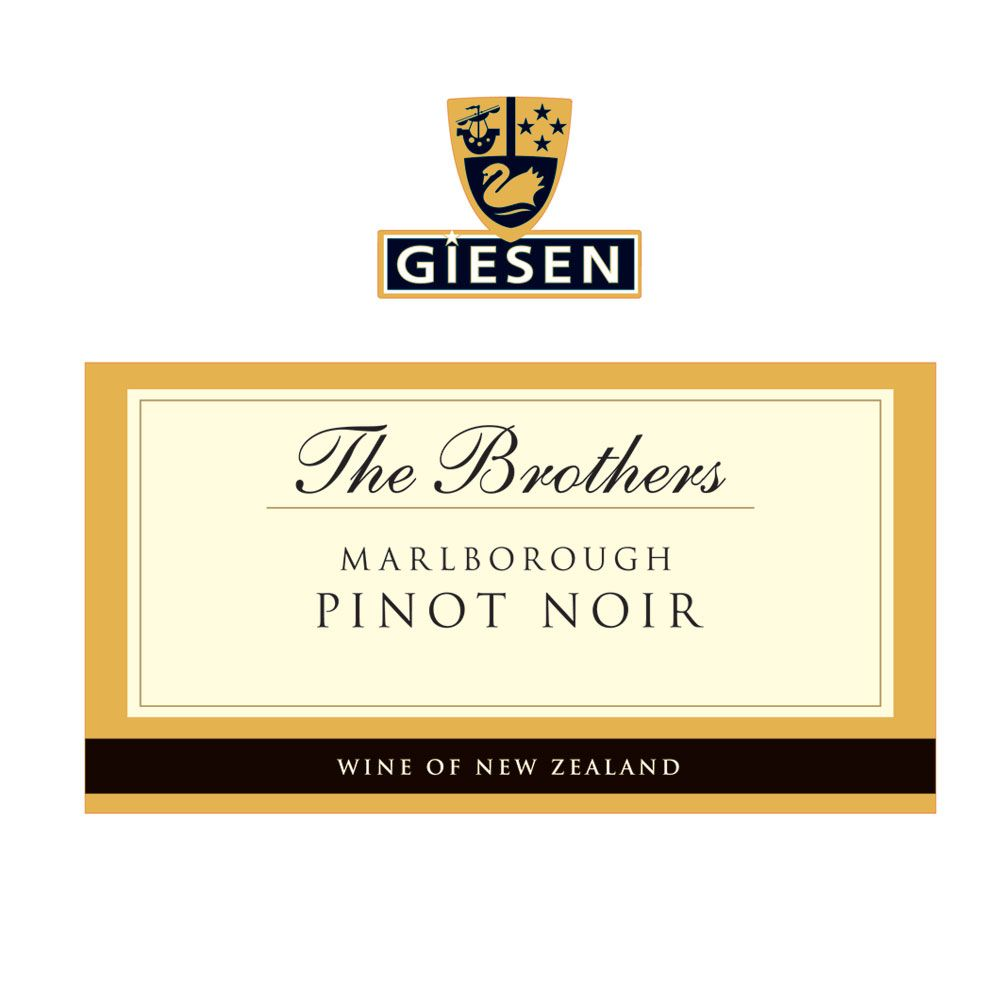 Giesen The Brothers Pinot Noir 2015  Front Label