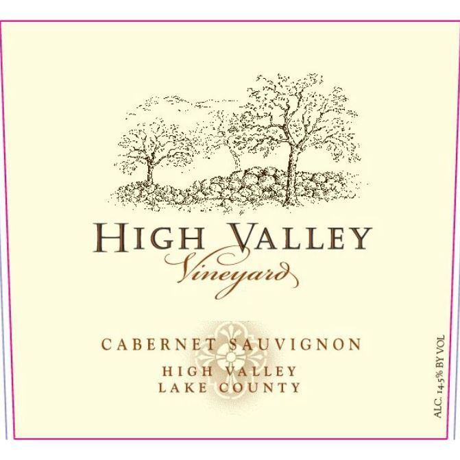 High Valley Vineyards Cabernet Sauvignon 2016  Front Label