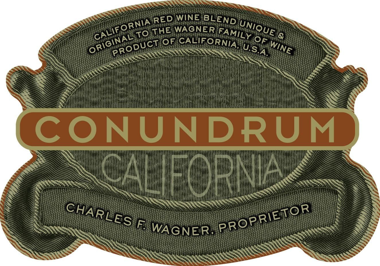 Conundrum Red Blend 2017 Front Label