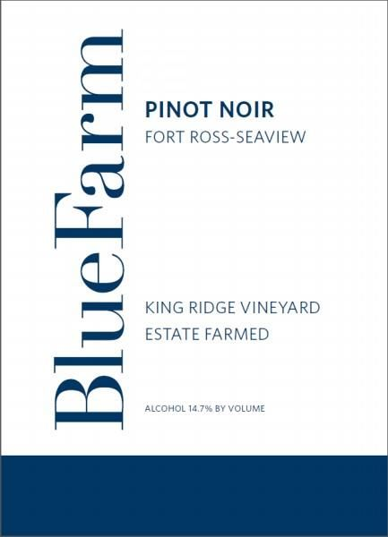 Blue Farm King Ridge Vineyard Pinot Noir 2016  Front Label