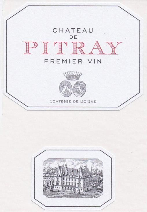 Chateau Pitray (Futures Pre-Sale) 2018 Front Label