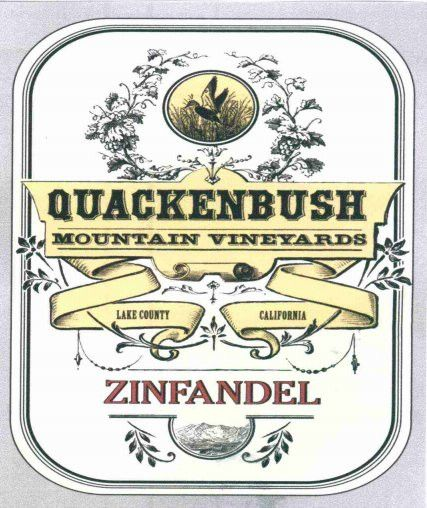 Quackenbush Mountain Vineyards Zinfandel 2011  Front Label