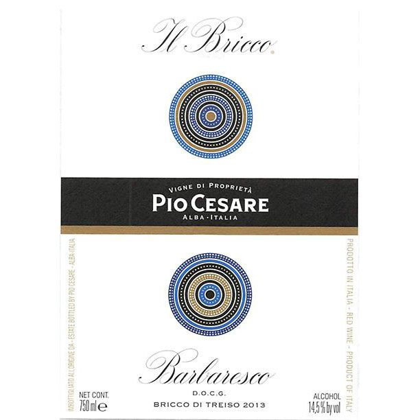 Pio Cesare Il Bricco Barbaresco 2016  Front Label