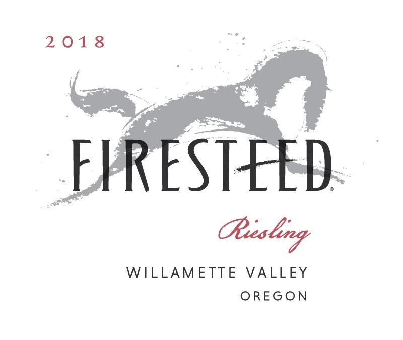 Firesteed Riesling 2018  Front Label