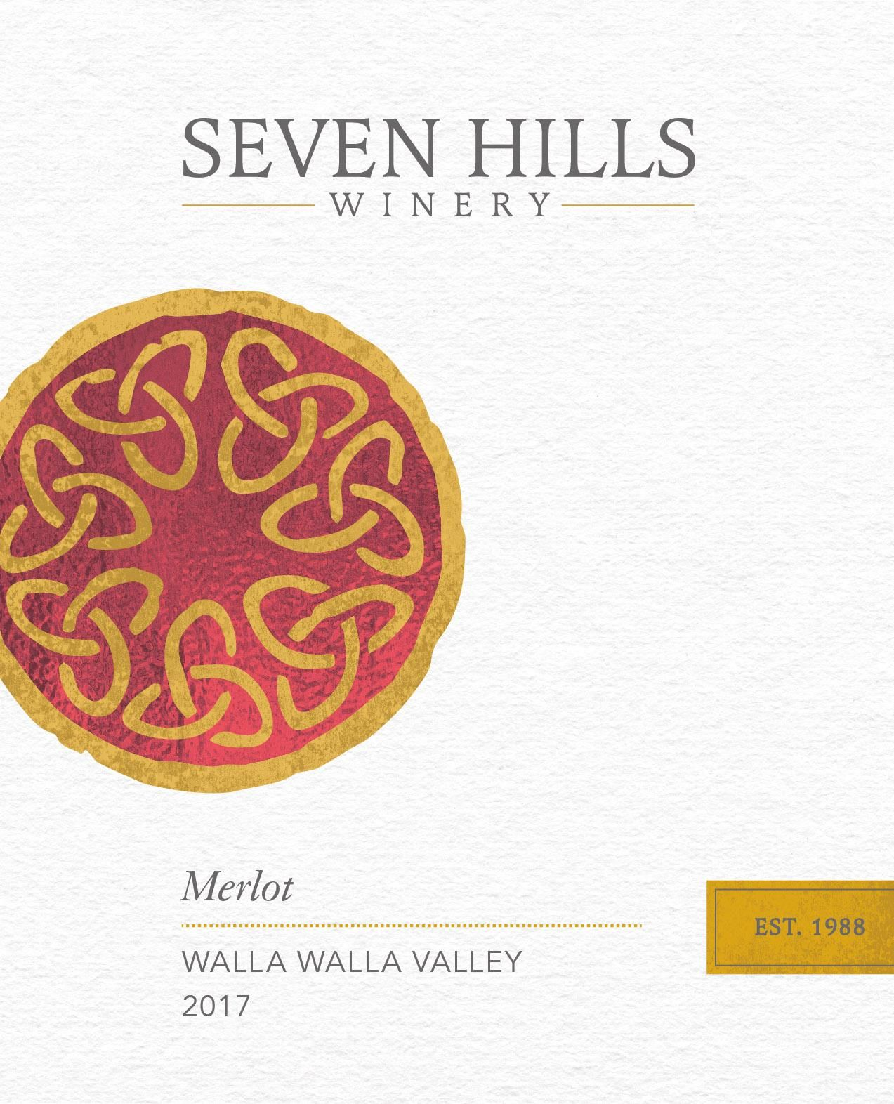 Seven Hills Winery Walla Walla Merlot 2017  Front Label