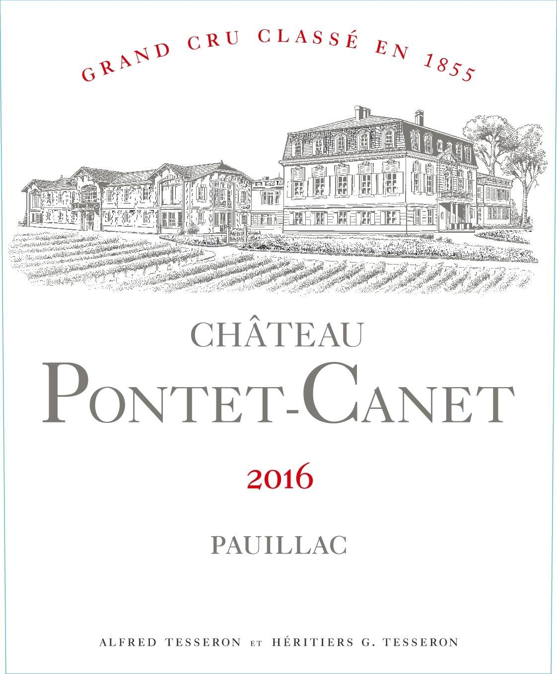 Chateau Pontet-Canet (3 Liter Bottle) 2016  Front Label