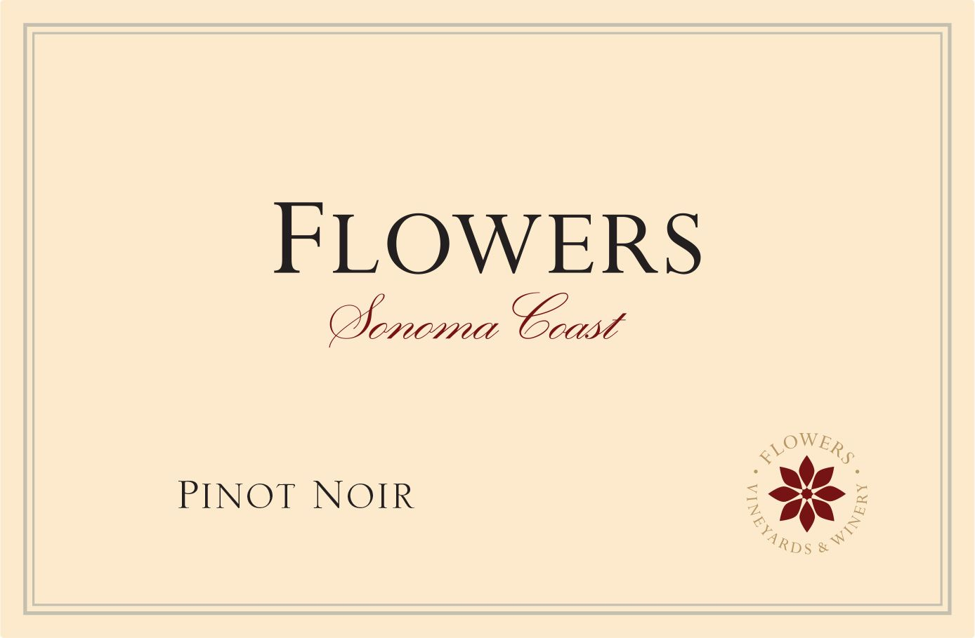 Flowers Sonoma Coast Pinot Noir 2018  Front Label