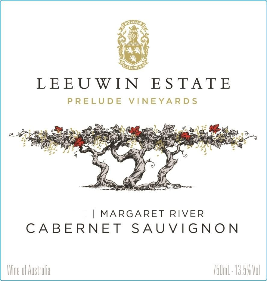 Leeuwin Estate Prelude Vineyards Cabernet Sauvignon 2014 Front Label