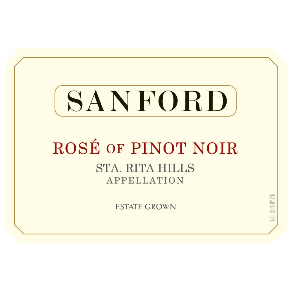 Sanford Rose of Pinot Noir 2018  Front Label