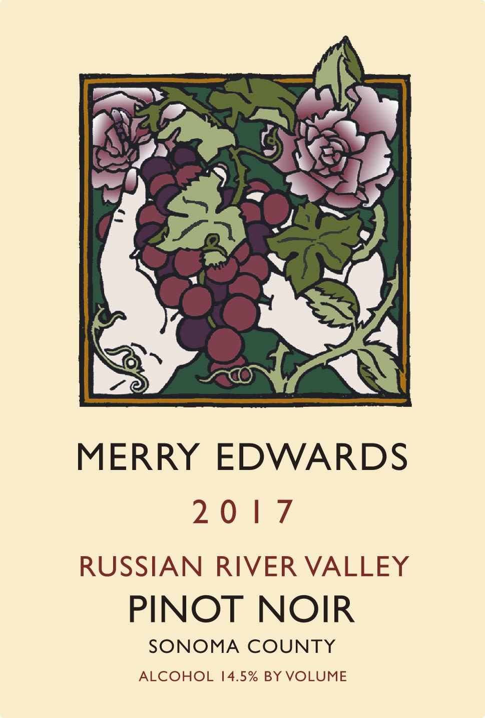 Merry Edwards Russian River Pinot Noir 2017 Front Label