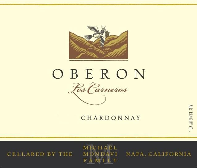 Oberon Chardonnay 2018 Front Label