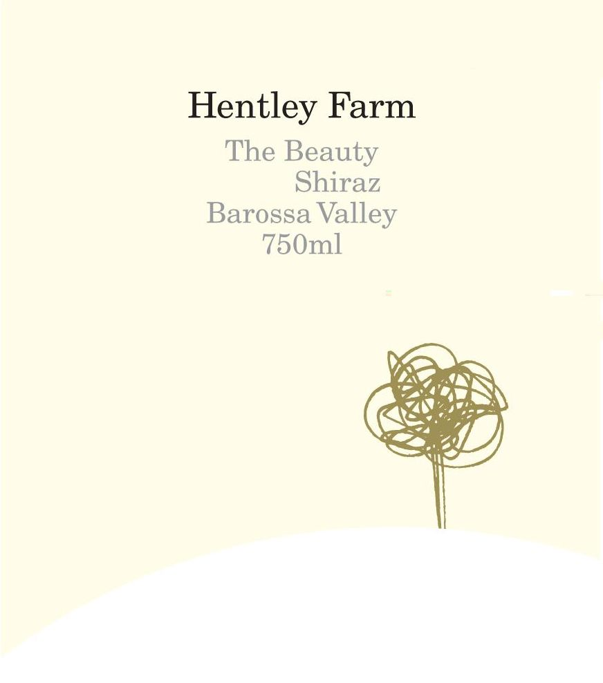 Hentley Farm The Beauty Shiraz 2014  Front Label
