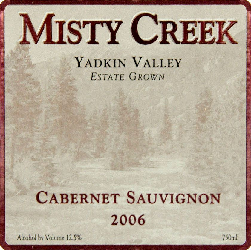 Misty Creek Wines Cabernet Sauvignon 2006  Front Label