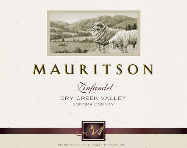 Mauritson Dry Creek Valley Zinfandel 2017  Front Label