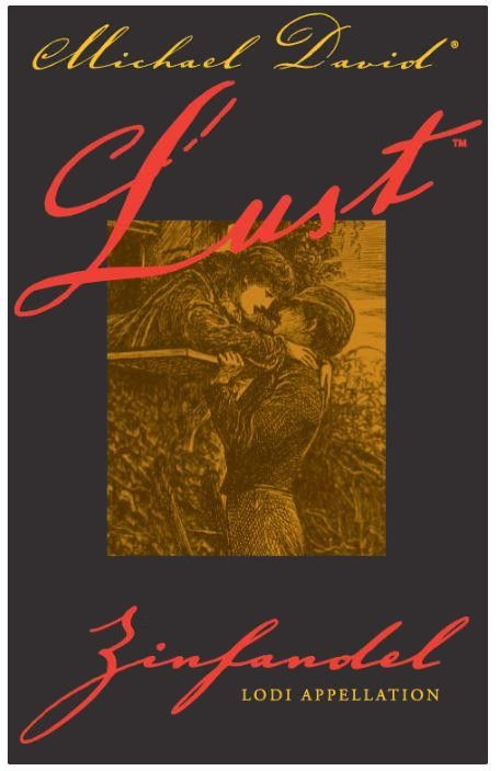 Michael David Winery Lust Zinfandel 2016 Front Label
