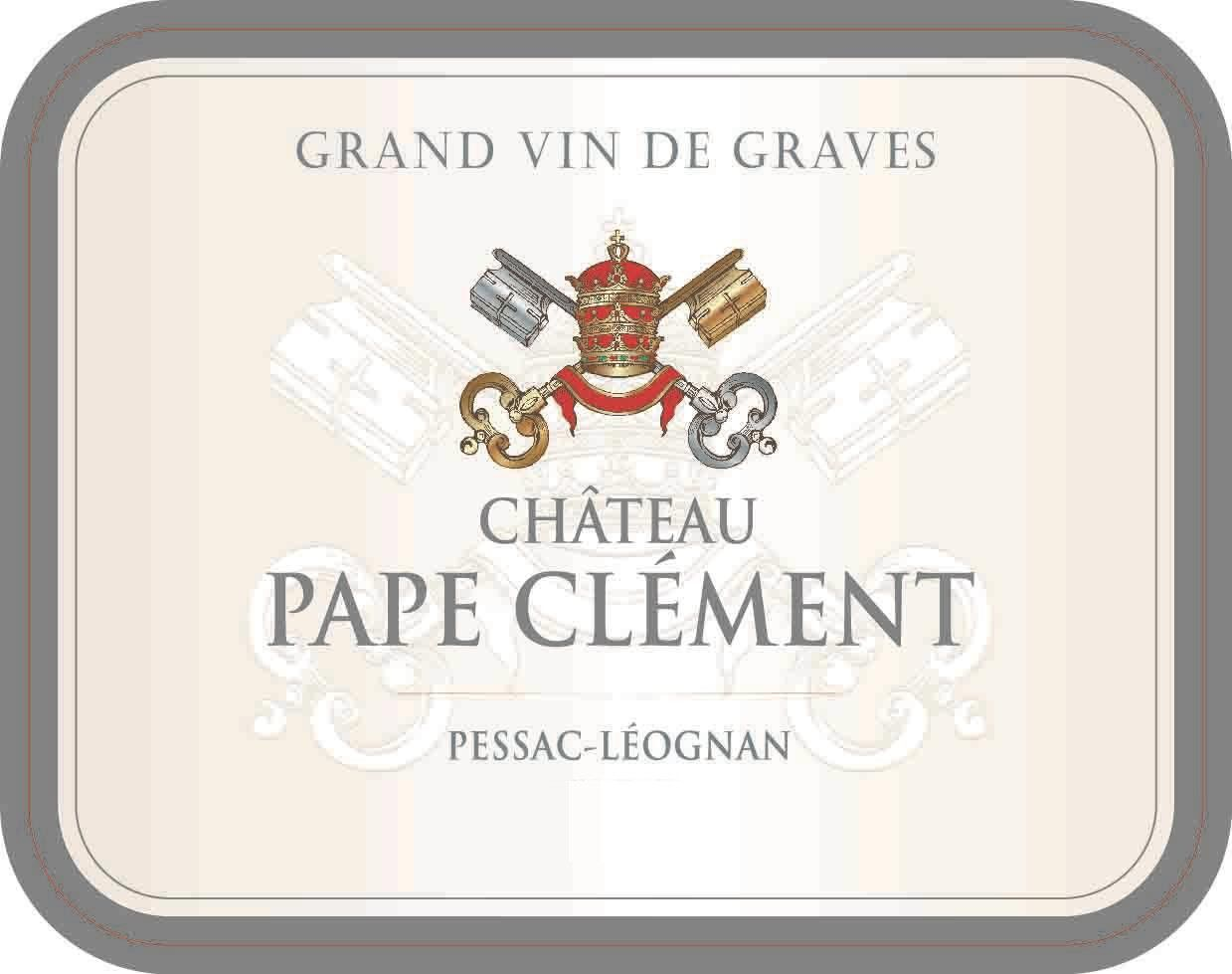 Chateau Pape Clement Blanc (Futures Pre-Sale) 2018  Front Label