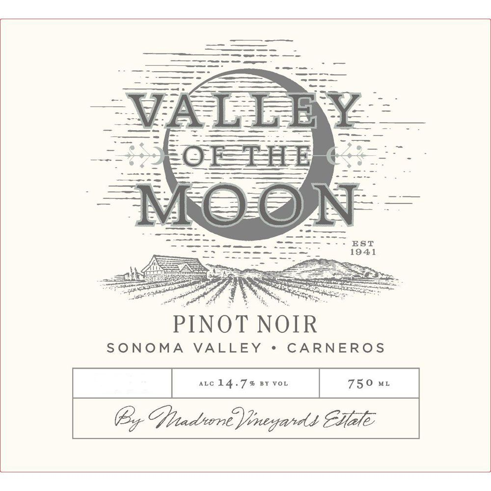 Valley of the Moon Pinot Noir 2013  Front Label