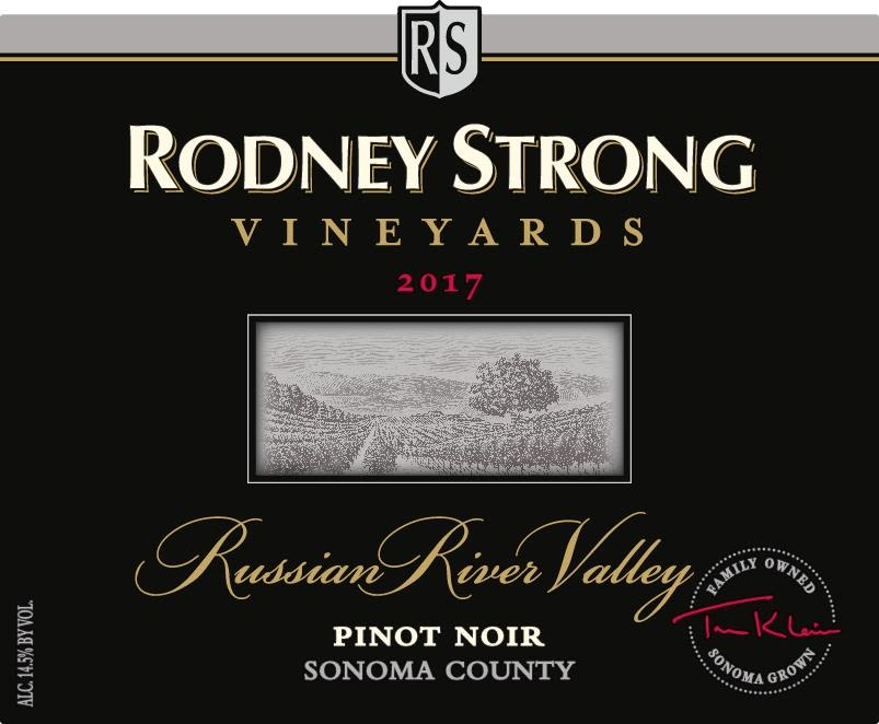 Rodney Strong Russian River Pinot Noir 2017  Front Label