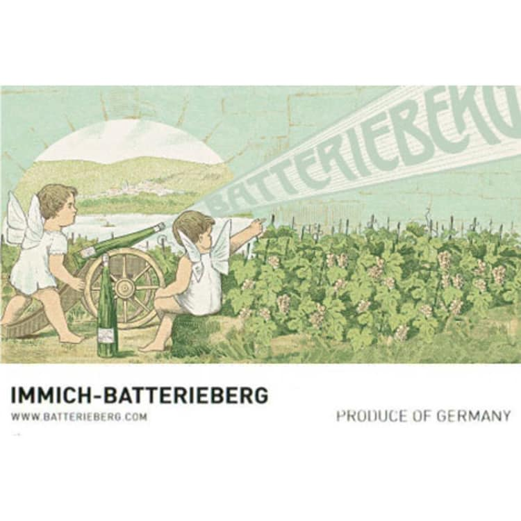 Immich-Batterieberg Escheburg Riesling 2014 Front Label