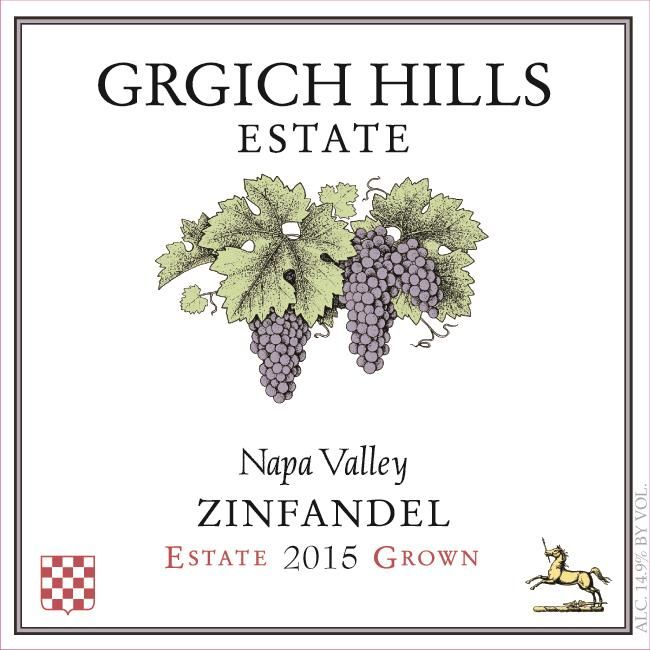 Grgich Hills Estate Zinfandel (375ML half-bottle) 2015  Front Label