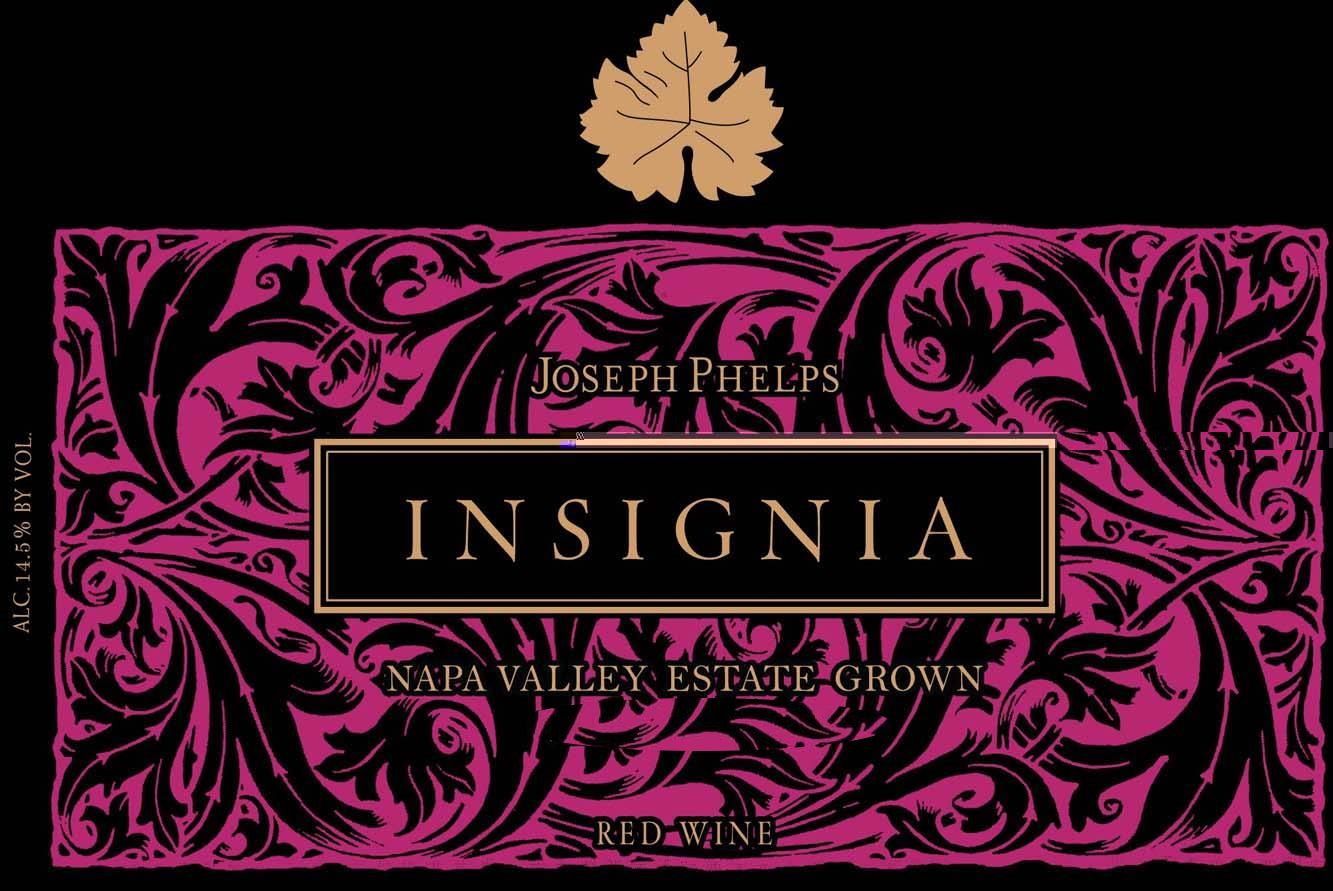 Joseph Phelps Insignia (3 Liter Bottle - signed) 2008 Front Label