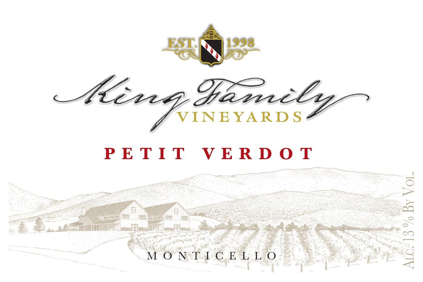 King Family Vineyards Petit Verdot 2014  Front Label