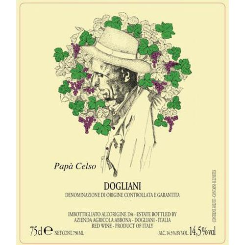 Abbona Papa Celso Dolcetto 2018  Front Label