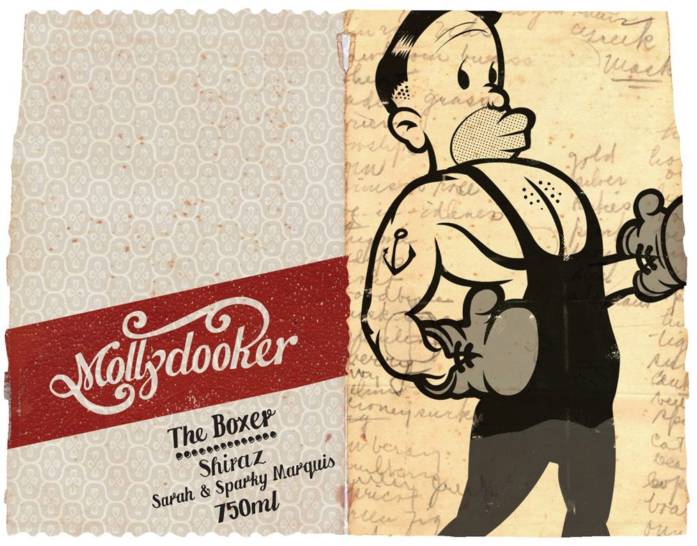 Mollydooker The Boxer Shiraz 2017 Front Label