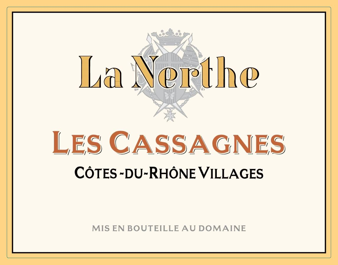 Chateau La Nerthe Les Cassagnes Cotes du Rhone Villages 2019  Front Label