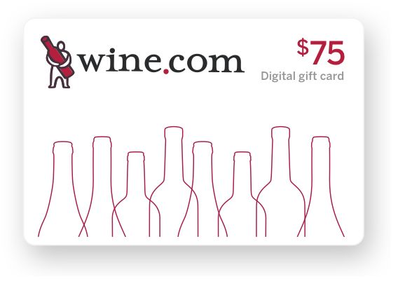 wine.com Gift Card - $75  Gift Product Image