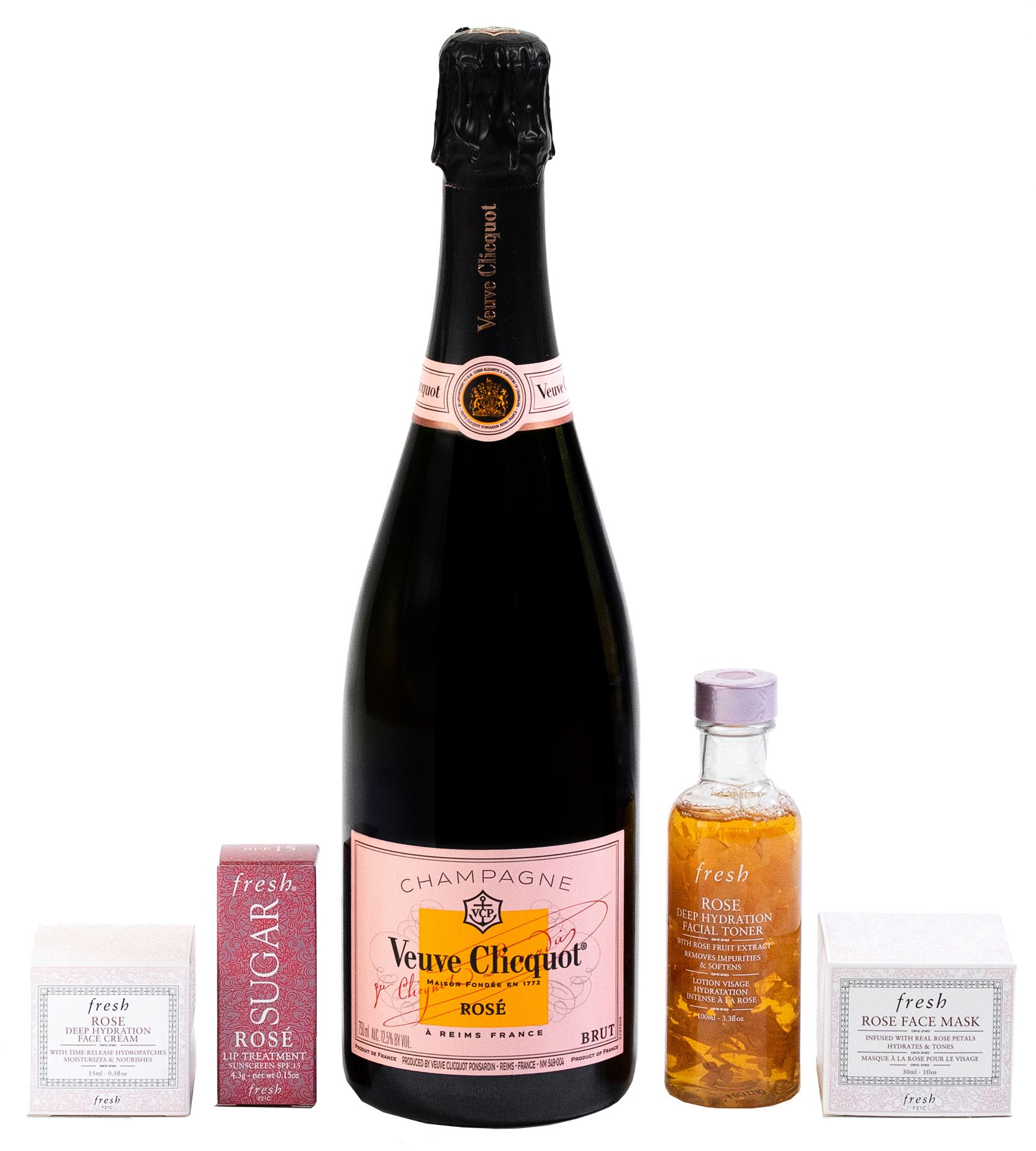 Veuve Clicquot & Fresh Cosmetics: Relax & Rosé Gift Set  Gift Product Image