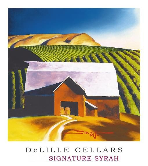 DeLille Signature Syrah 2015  Front Label