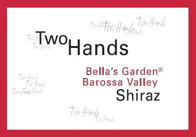 Two Hands Bella's Garden Shiraz 2016  Front Label