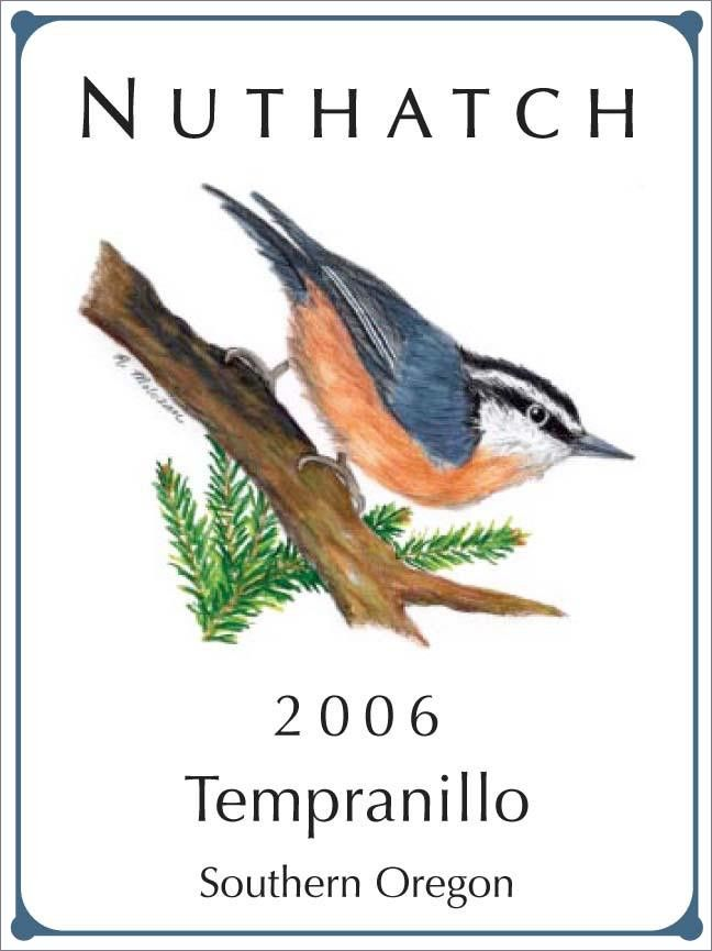 Nuthatch Cellars Tempranillo 2006  Front Label