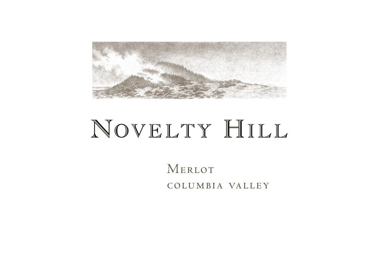 Novelty Hill Merlot 2016 Front Label
