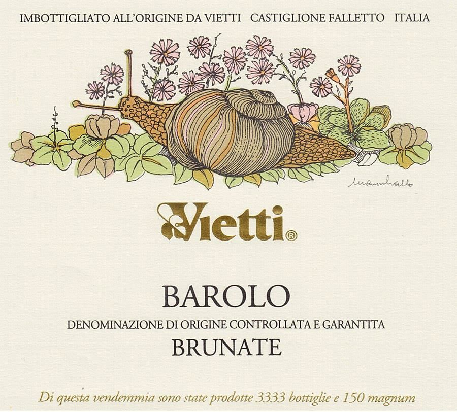 Vietti Barolo Brunate 2016  Front Label